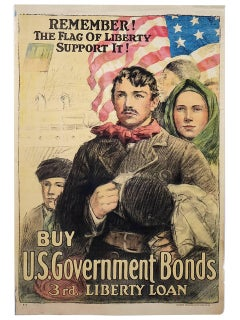 Remember! The Flag of Liberty, Support It!, Original WWI Propaganda Poster