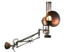 Very Rare Articulated Gas Medical Exam Light