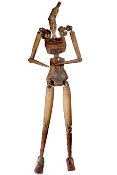 Rustic Articulated Artist's Mannequin