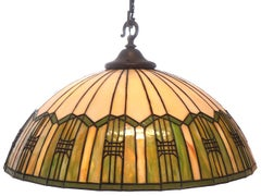 Large Arts and Crafts 6 Bulb Chandelier
