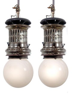 Rare Ornate Welsbach Gas Lamps - Newly Wired