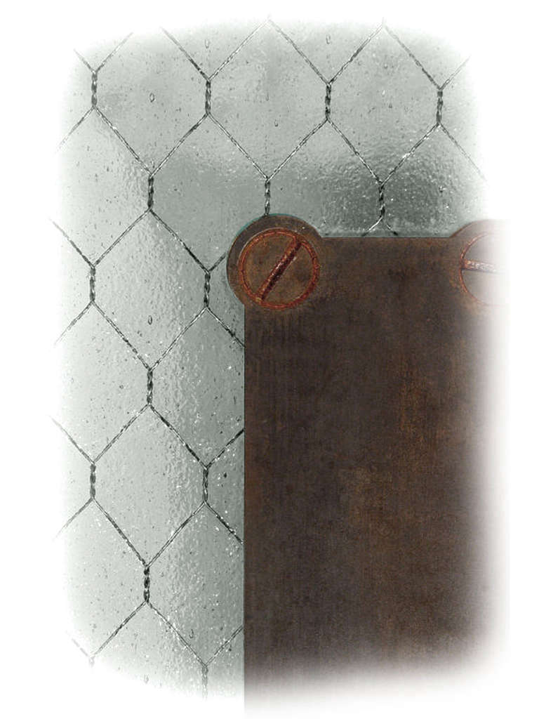 Industrial Antique Wire Glass Sconce For Sale
