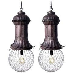 1800s Adams-Bagnall Street Lamps, Pair