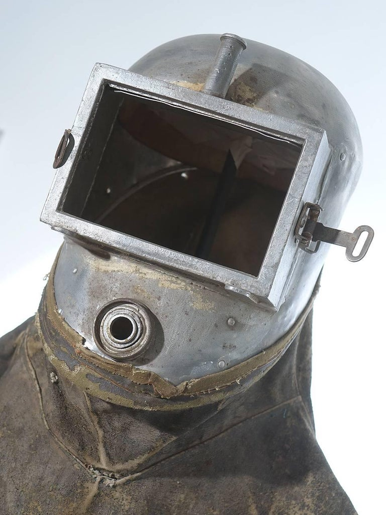 Unknown Early Sprayers Safety Suit on Custom Museum Stand For Sale
