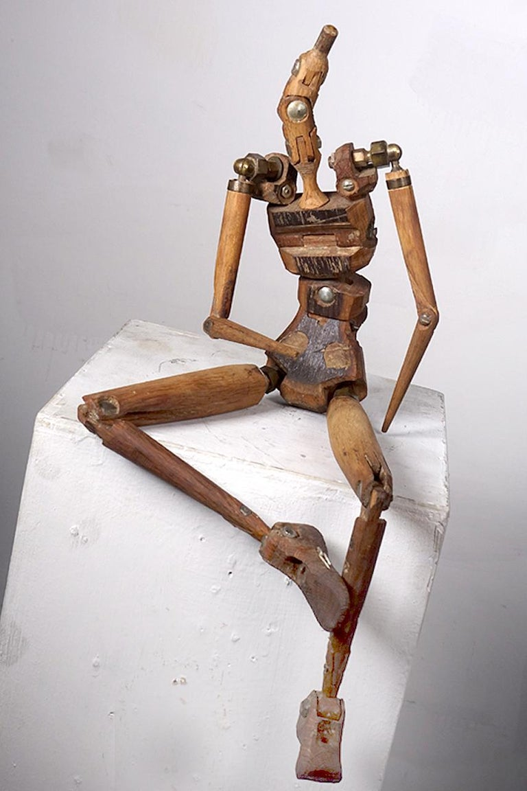Primitive Rustic Articulated Artist's Mannequin For Sale