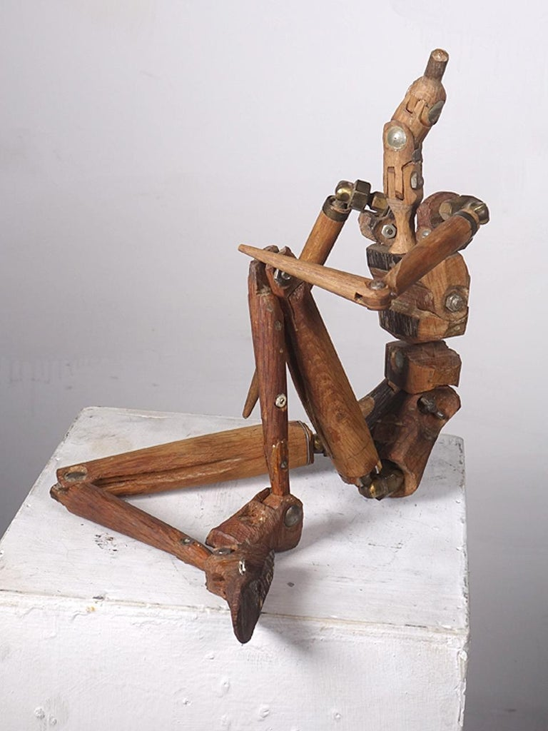 Unknown Rustic Articulated Artist's Mannequin For Sale