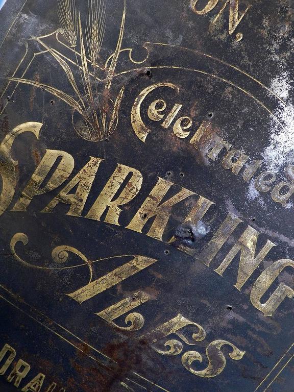 1800s Sparkling Ale Sign At 1stdibs