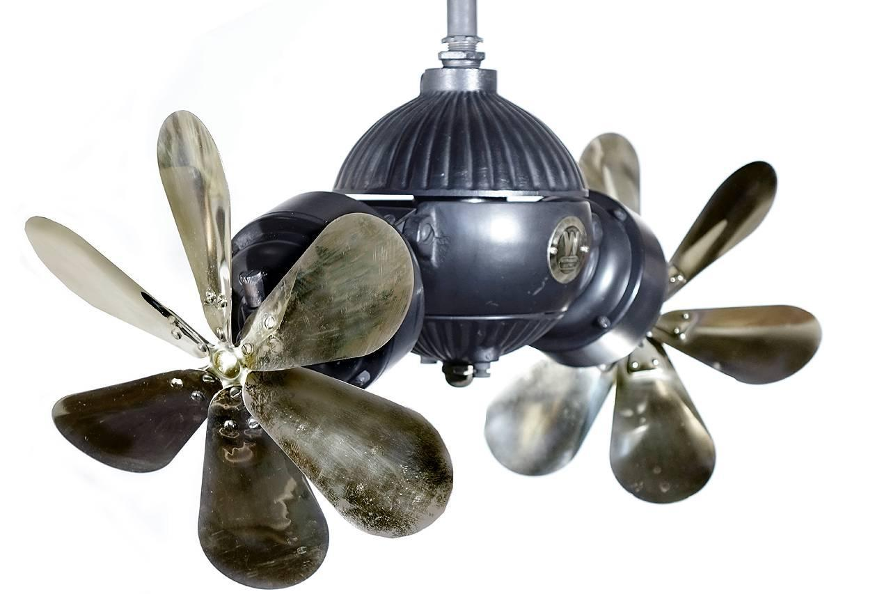 Rare Westinghouse Double Gyro Ceiling Fan At 1stdibs