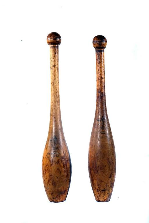Large Decorative Indian Club Collection At 1stdibs