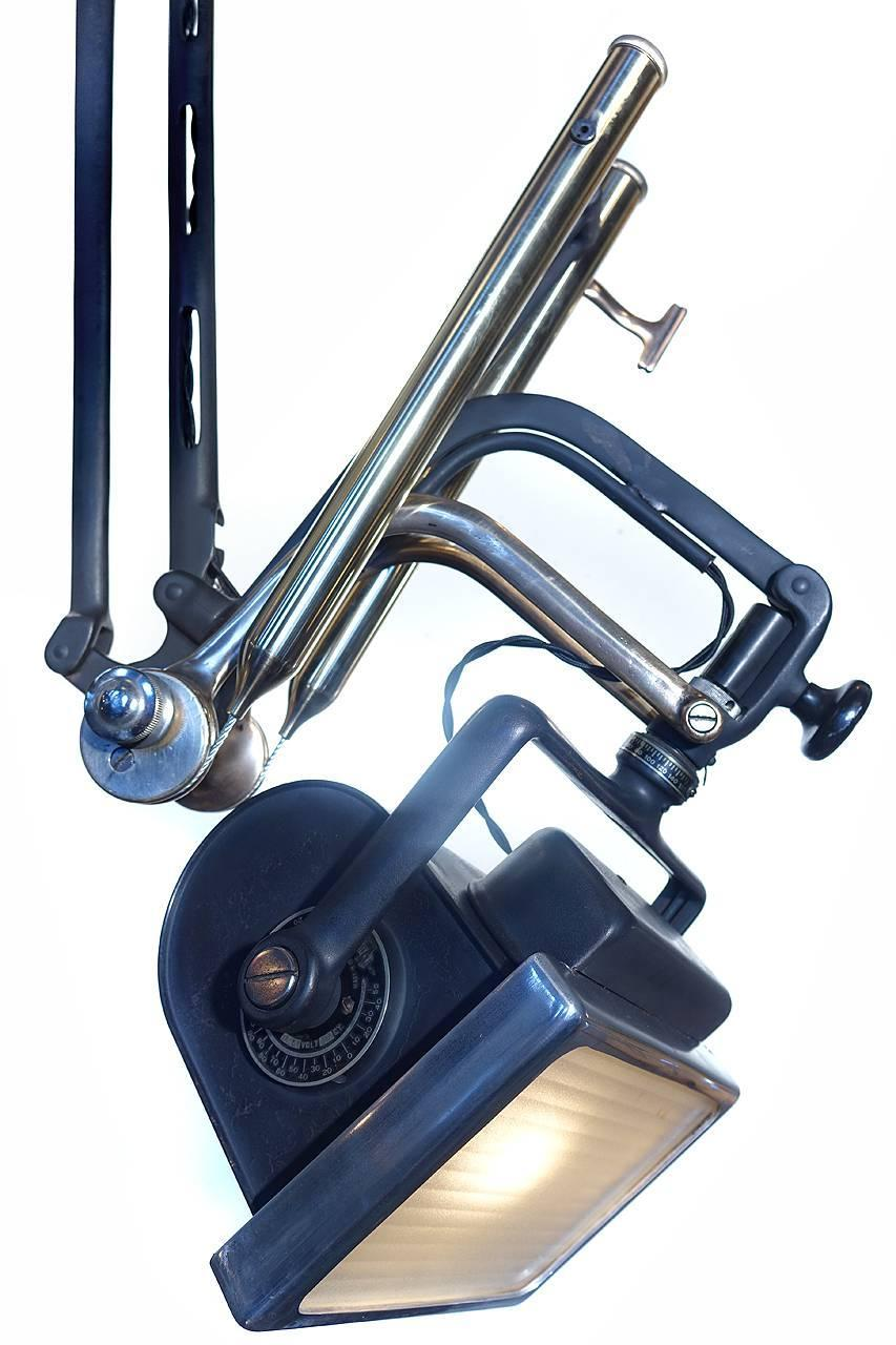 Articulating Lamp Parts Early and Rare Articulating X-Ray Arm Dental Lamp at 1stdibs