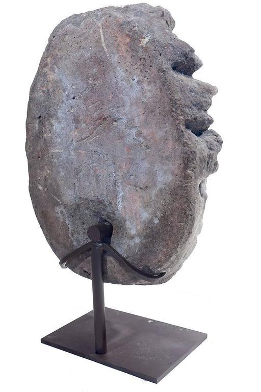 American Early Limestone Fountain Head For Sale