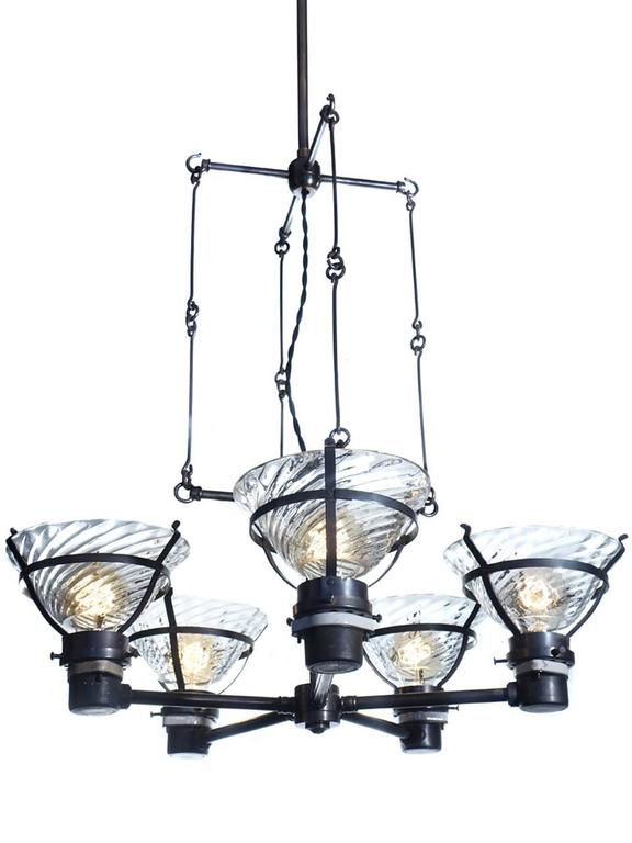 Industrial Unique Skeletal X-Ray Chandelier For Sale