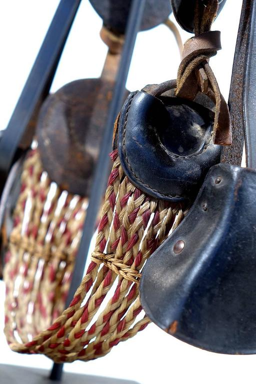 This is an early original salesman's sample. Its a WW1 McClellan Cavalry saddle. The details are very true to the original including the hardware and two color braided horse hair straps. The detail is so realistic it looks full size in the pictures