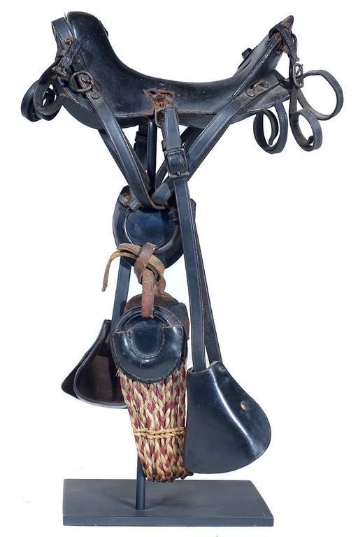Industrial 1800s McClellan Cavalry Saddle, Salesman's Sample For Sale