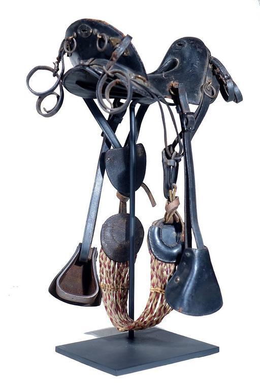 19th Century 1800s McClellan Cavalry Saddle, Salesman's Sample For Sale