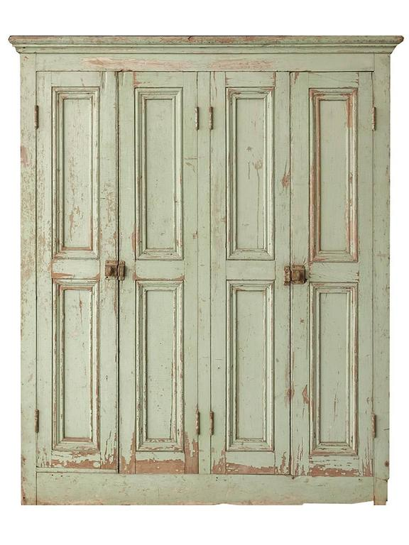 Original Paint Four-Door Raised Panel Cupboard 3