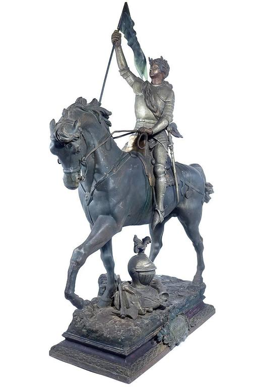 1800s French Joan of Arc Sculpture 2