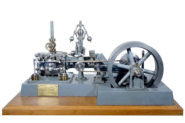 Complex Working Corliss Steam Engine Model 2