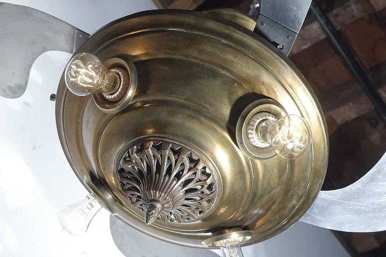 Rare Levelle 'Birdwing' Ornate Retractable Blade Fans 4