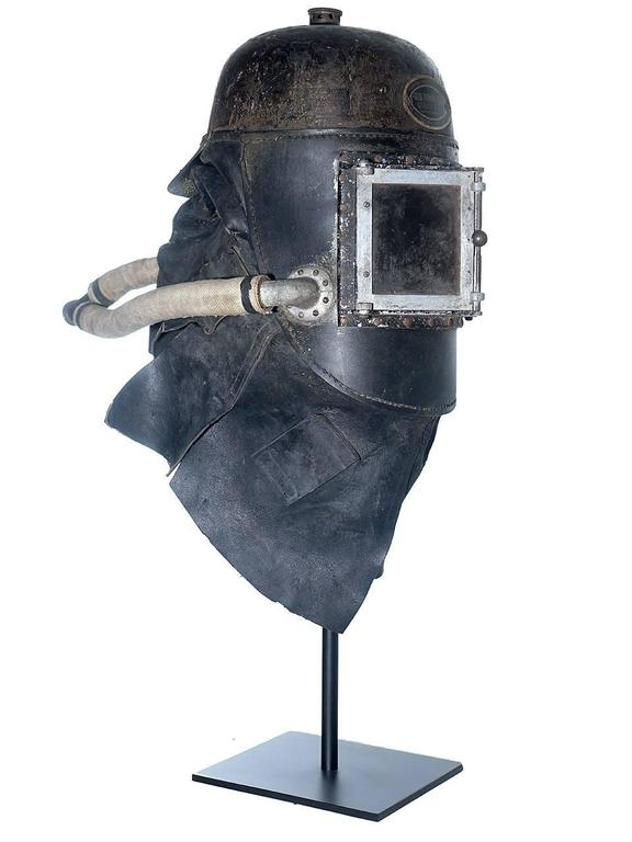 English 1878 Siebe Gorman Firemens Rescue Mask For Sale