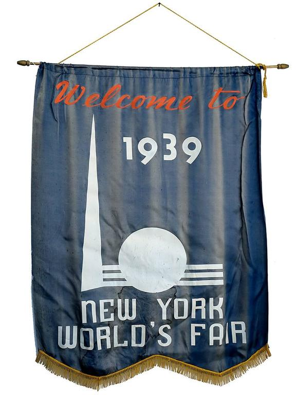 1939 New York World's Fair Welcome Banner 2