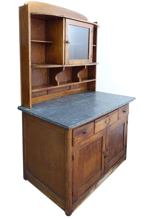 Zinc Top Arts and Crafts Style Kitchen Cupboard 2