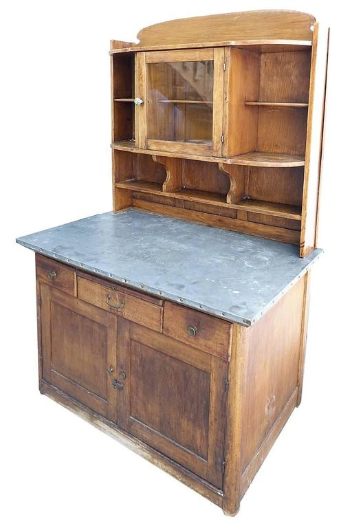Zinc Top Arts and Crafts Style Kitchen Cupboard 3
