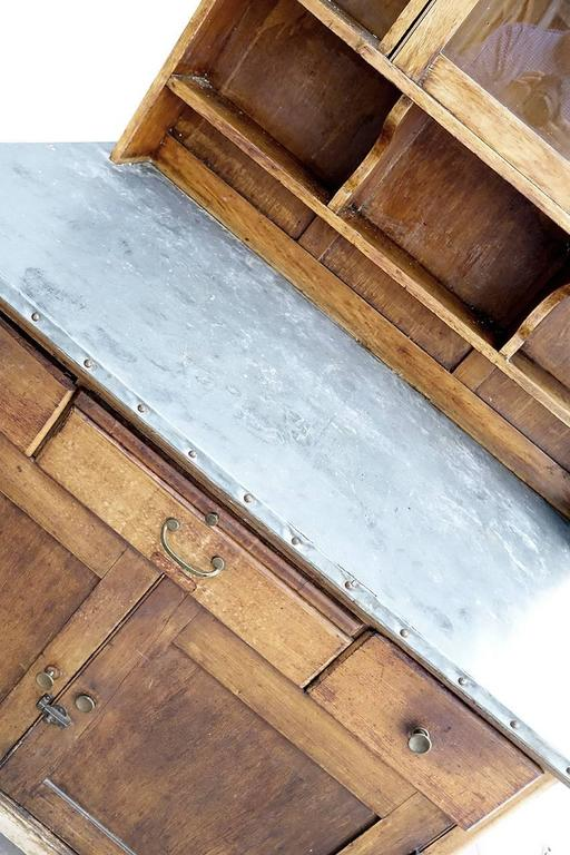 Zinc Top Arts and Crafts Style Kitchen Cupboard 4