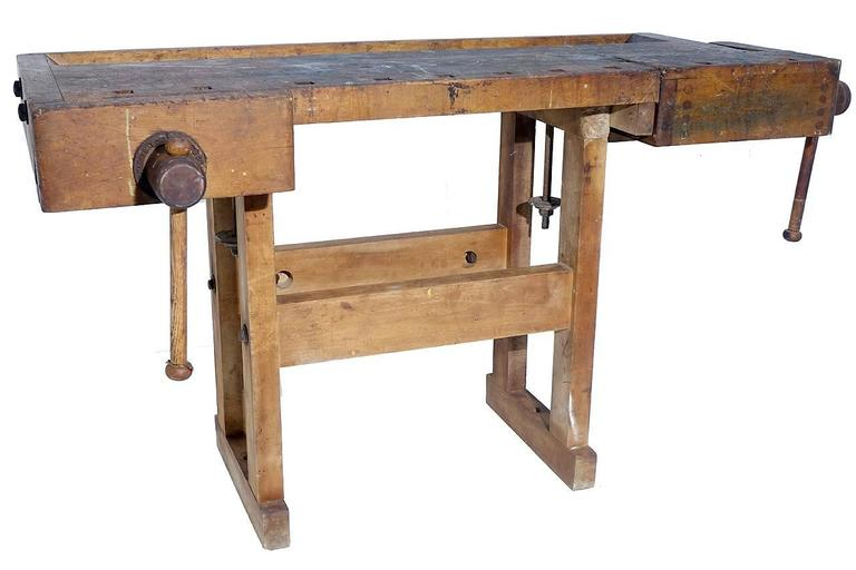 American 1800s Carpenters Workbench For Sale