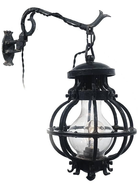 Rustic Rusic Blacksmith Barn Sconce For Sale