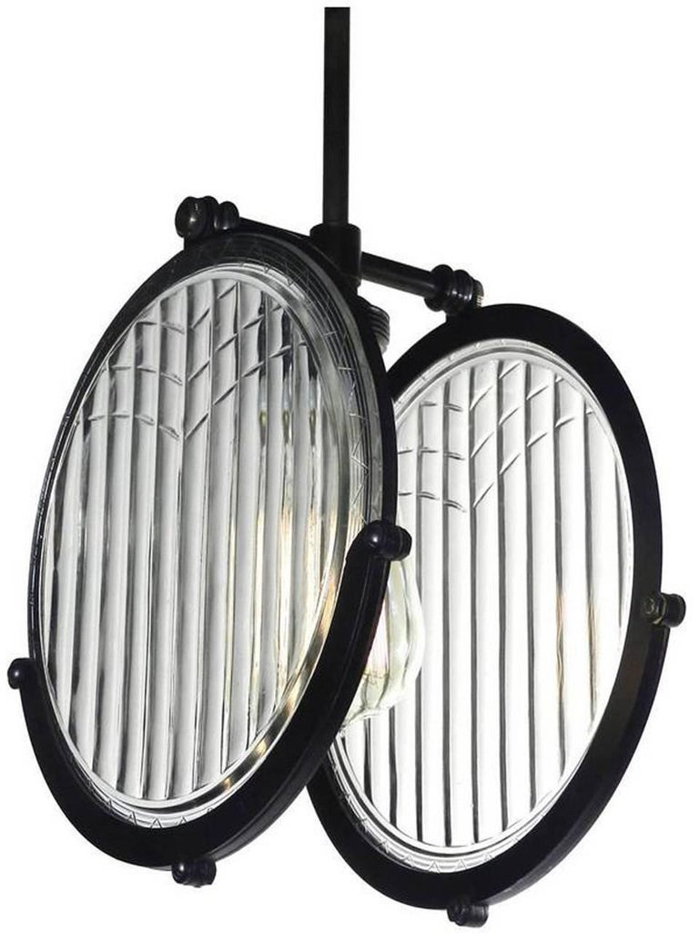 1915 Automobile Double Lens Headlight Pendant In Excellent Condition For Sale In Peekskill, NY