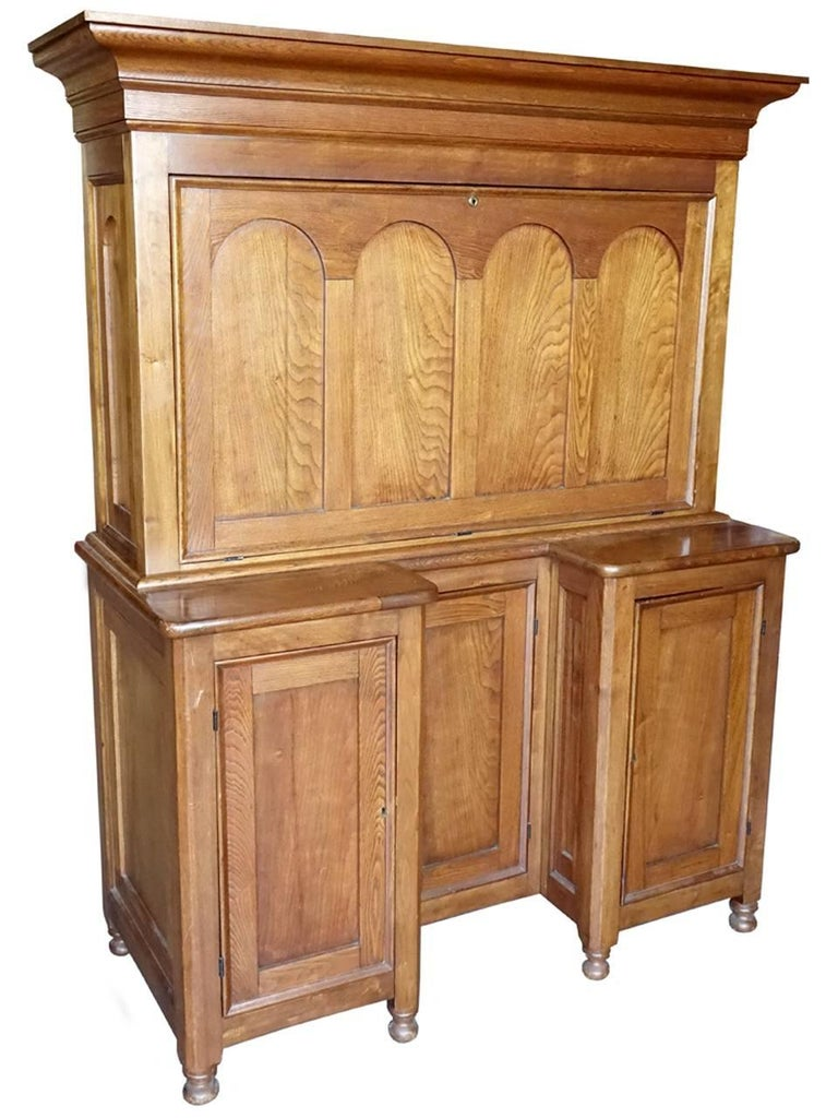 Fall Front Desk ~ Rare tall butlers fall front desk for sale at stdibs