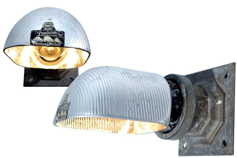 Pair of Permaflector Railroad Station Sconces 3