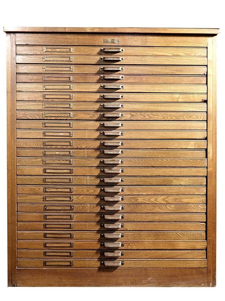 1800s Oak 24-Draw Flat File 4