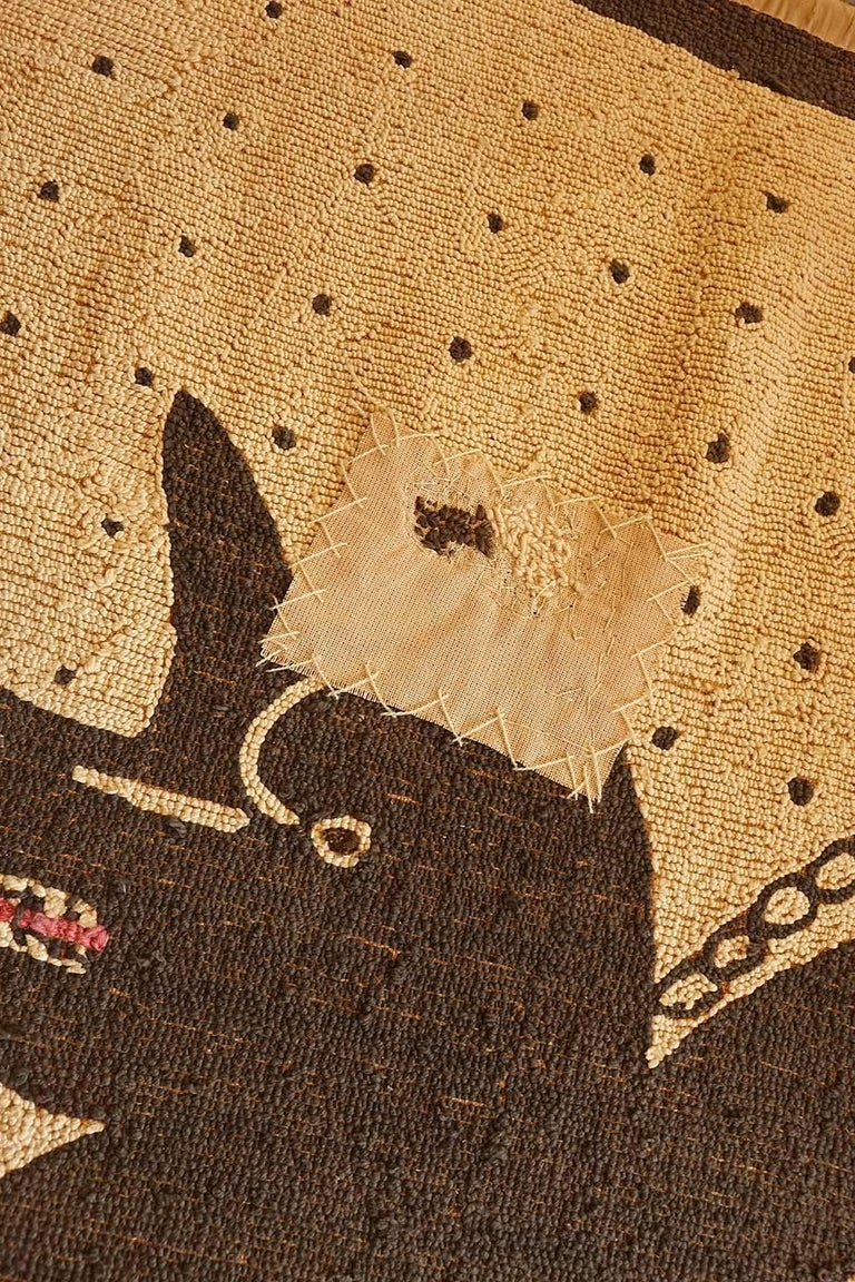 Bad Dog Folk Art Hooked Rug 4