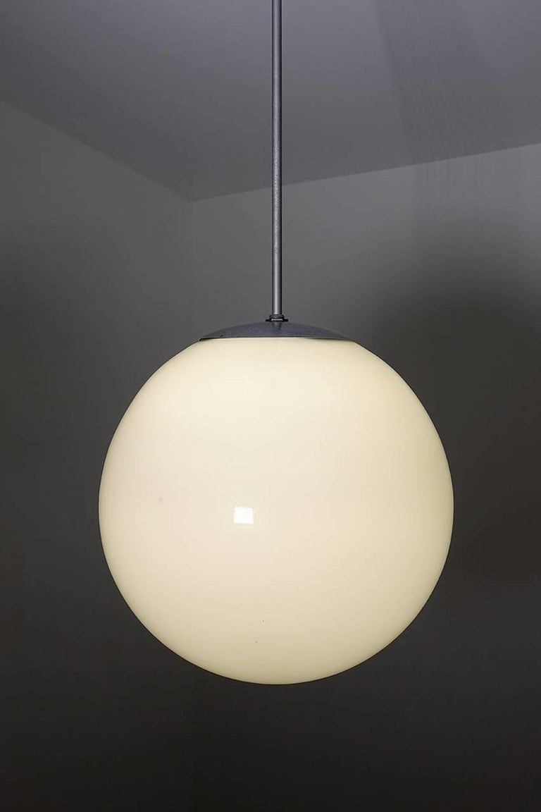 American Huge Mid-Century Modern Milk Glass Globes For Sale