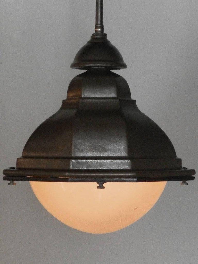 American Oval French Style Terracotta Street Lights For Sale