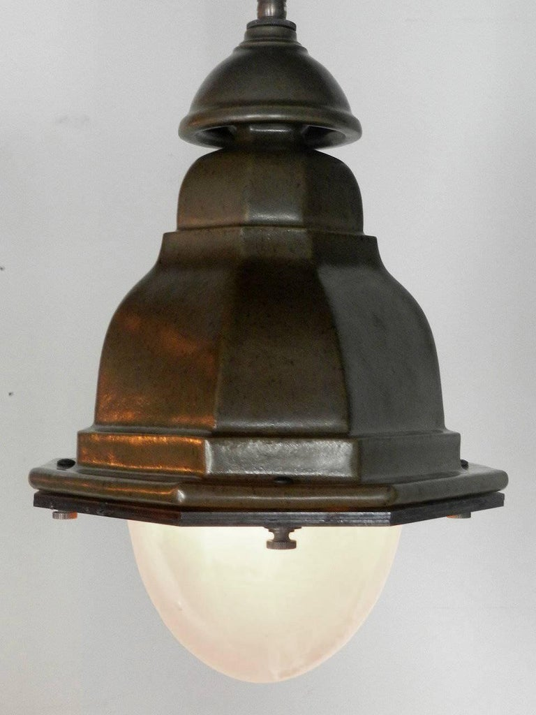 Contemporary Oval French Style Terracotta Street Lights For Sale