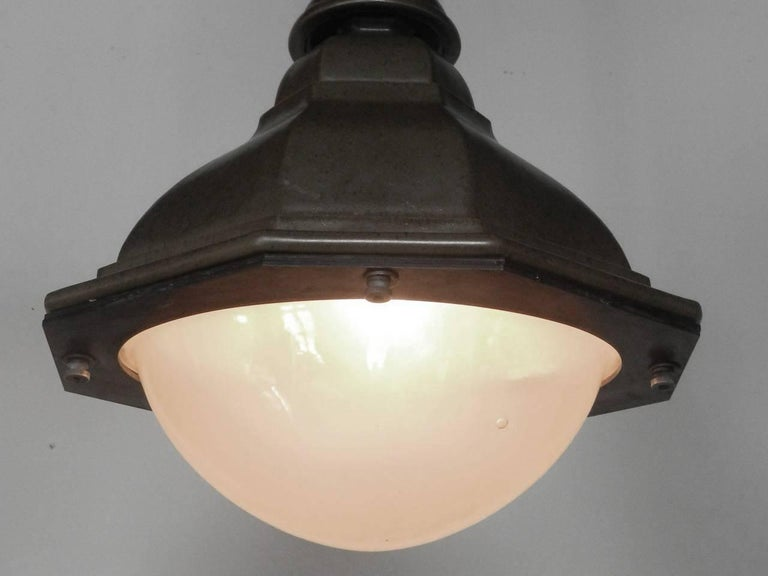 Oval French Style Terracotta Street Lights For Sale 1