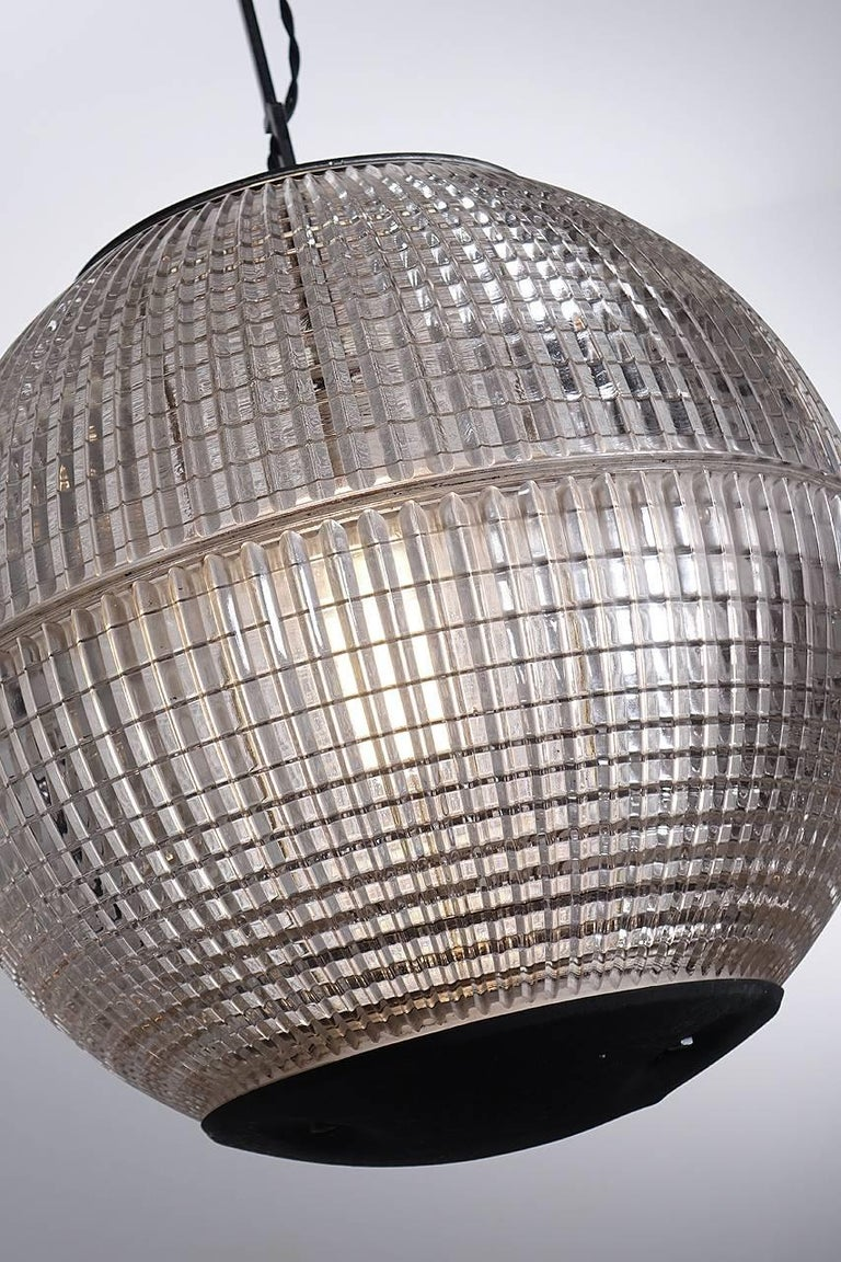 Industrial Parisian Prismatic Globe Street Light For Sale