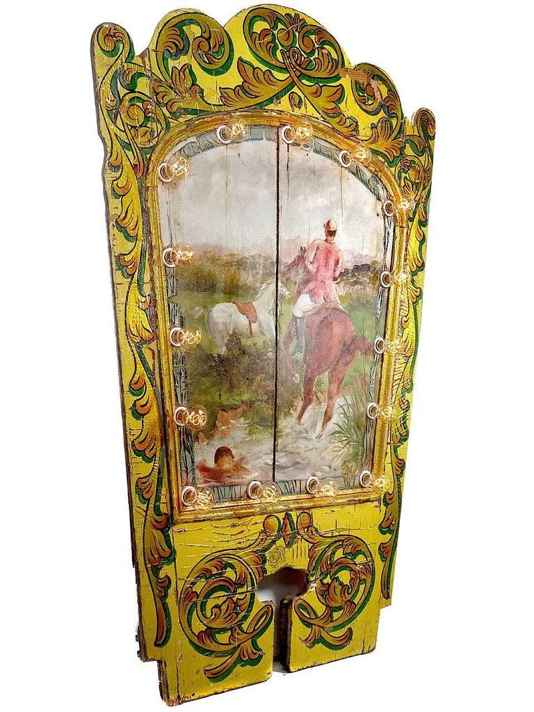 Folk Art 1800s Carousel Centre Panel For Sale