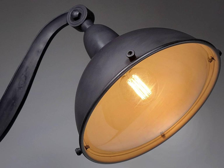 Industrial Large 1920s Style French Street Lights For Sale
