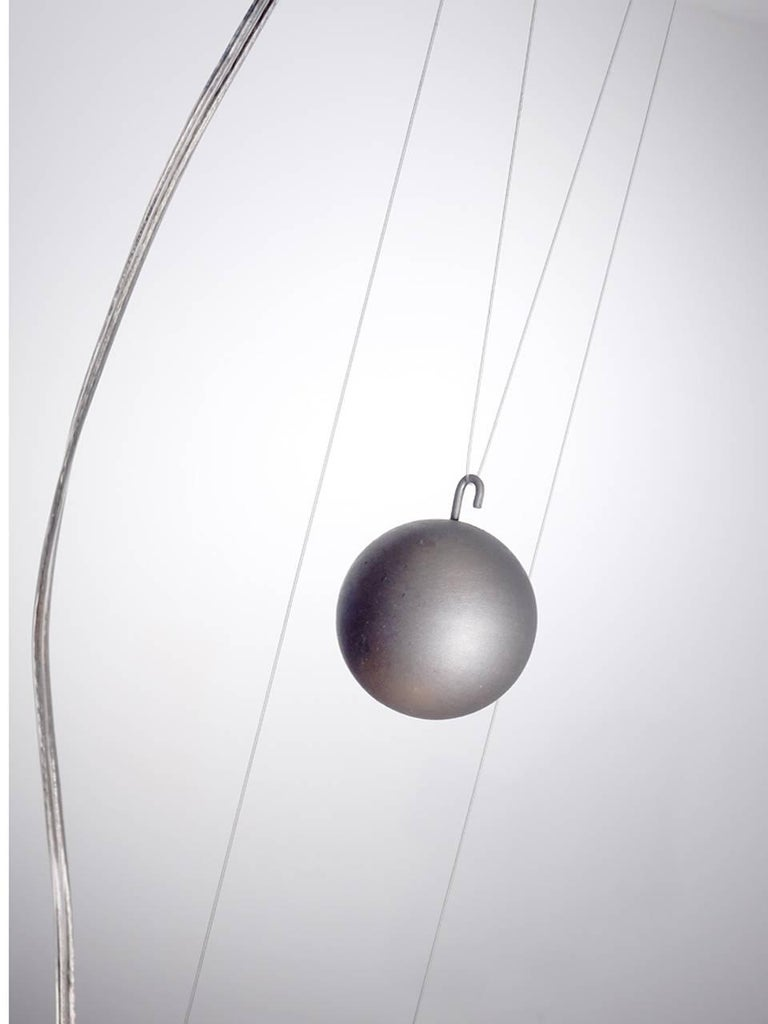 Designer Titanium Pendant Light, Pair In Excellent Condition For Sale In Peekskill, NY