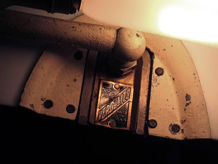 American 1917 Verdelite Bankers Desk Lamp For Sale