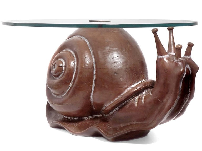 Mid-Century Modern Classic Federico Armijo Snail Table For Sale