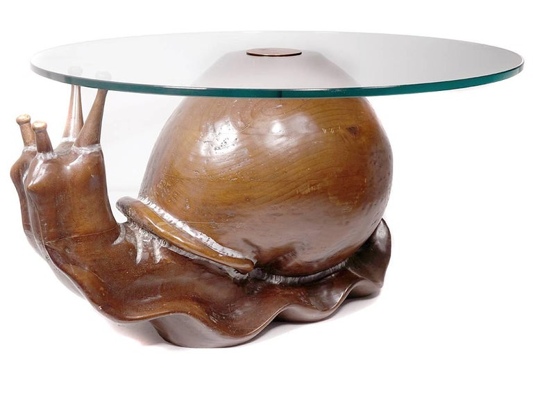 Classic Federico Armijo Snail Table In Excellent Condition For Sale In Peekskill, NY