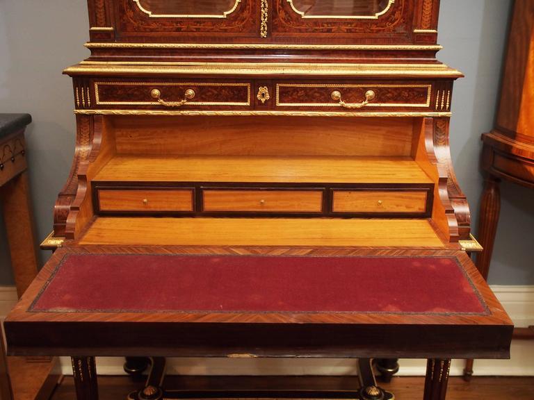 Antique Napoleon III Desk and Bookcase, circa 1860-1870 In Excellent Condition For Sale In New Orleans, LA