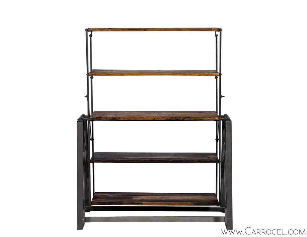 industrial display shelf for sale at 1stdibs. Black Bedroom Furniture Sets. Home Design Ideas