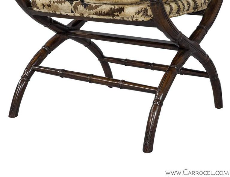 Faux Bamboo And Zebra Accent Chair At 1stdibs