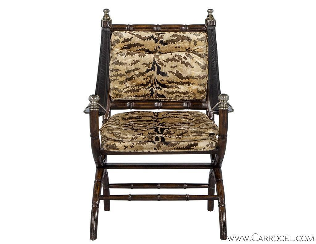 Faux Bamboo And Zebra Accent Chair For Sale At 1stdibs